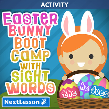 Easter Bunny Boot Camp with Sight Words - Easter Activity