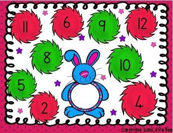 Easter Bunny Bop Maths Center Game