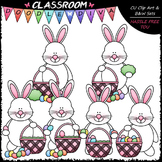 Easter Bunny Builds A Basket Clip Art - Sequencing Clip Ar