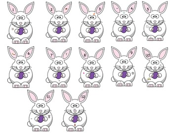 Easter Bunny CVC Search with Magnify Glass