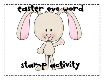 Easter Bunny CVC Word Stamp