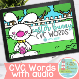 Easter Bunny CVC Words Boom Cards WITH AUDIO
