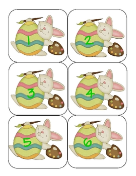 Easter Bunny Calendar Letters