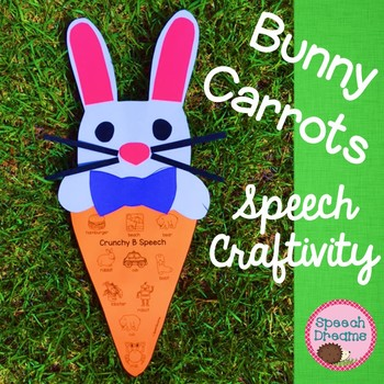 Easter Bunny Carrot Speech Therapy Craft {articulation craftivity}