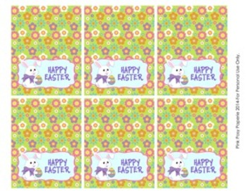 Easter Bunny Classroom Party Mini Bag Toppers