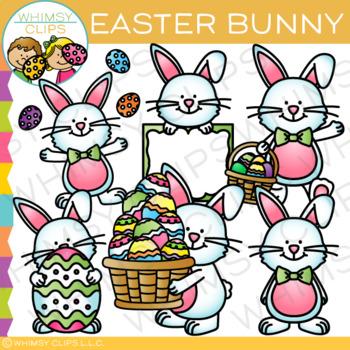 Easter Bunny Clip Art {Whimsy Clips Easter Clip Art}