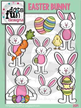 Easter Bunny Clip Art ~Dots of Fun Designs