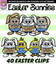 Easter Bunny Clip Art {Squishies Clipart}