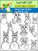 Easter Bunny Clip Art  (Sticky Foot Studio)