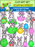 Easter Bunny Clip Art  (Sticky Foot Studio)