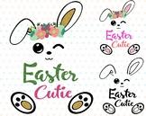 Easter Bunny Clipart Silhouette Glitter Rabbit carrot Egg Hunt outline 759S