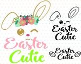 Easter Bunny Clipart Silhouette Glitter Rabbit carrot Egg Hunt outline 760S