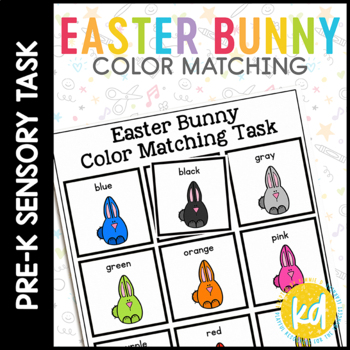 Easter Bunny Color Match Folder Game for Early Childhood Special Education