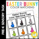Folder Game: Easter Bunny Color Matching for Students with Autism & Special Need