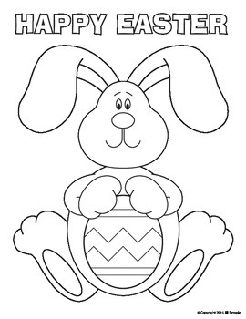 Easter bunny coloring page Royalty Free Vector Image | 350x270