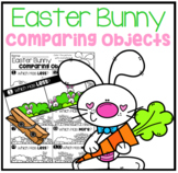 Easter Bunny Comparing Objects Math Center