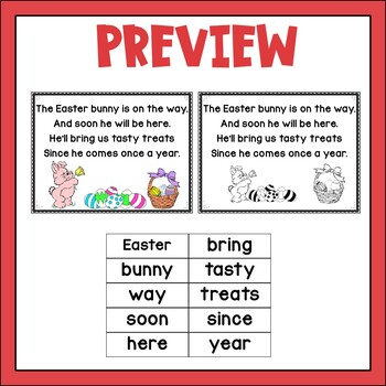 Easter Concept of Word Poetry Freebie