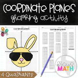 Easter Bunny Coordinate Planes Graphing Activity (All 4 Qu