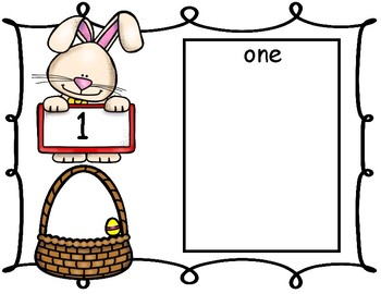 Easter Bunny Counting Mats