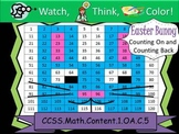 Easter Bunny Counting On and Counting Back -Watch, Think, Color Mystery Pictures