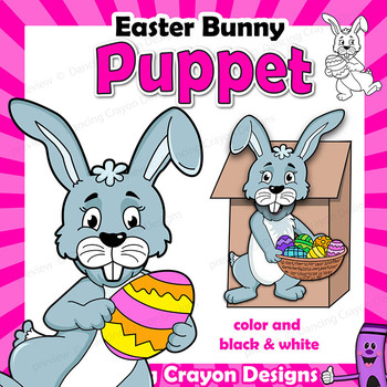 Easter Bunny Craft Activity | Printable Puppet