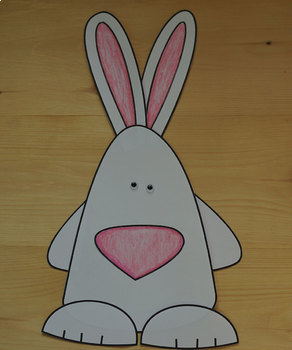 Animals Craft Bunny- Template  Cut and Paste