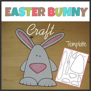 Easter Bunny Craft - Template