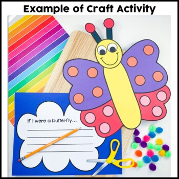Butterfly Craft {If I Were a Butterfly Writing Prompts}