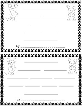 Easter Bunny Craftivity with Graphic Organizers and Poem Template