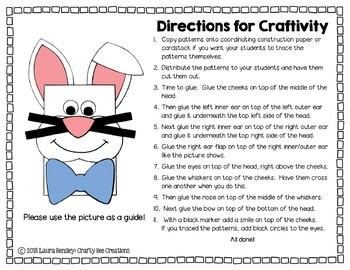 Easter Bunny Cut and Paste