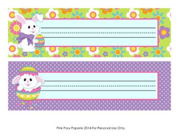 Easter Bunny Desk Name Plates