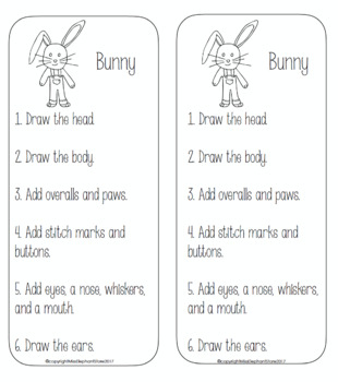 Easter Bunny Directed Drawing and Journal Prompt Free!
