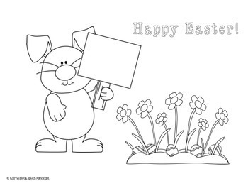 Freebie! Easter Bunny Directions