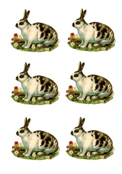 Easter Crafts, Easter Bunny, Easter Stickers, Easter Clipart, Easter Sheet