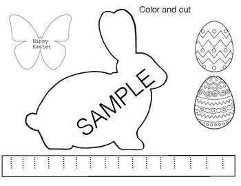 Easter Bunny Easy Craft Preschool/Kindergarten