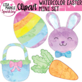 Easter Bunny Egg Clipart Watercolor