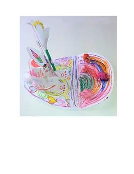 Easter Bunny Egg Landscape Card