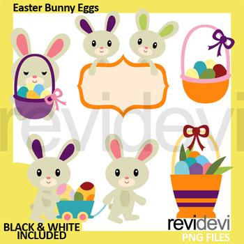 Easter Bunny Eggs Clip Art