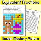 Easter Math Equivalent Fractions Mystery Picture - Easter