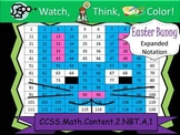 Easter Bunny Expanded Notation - Watch, Think, Color Mystery Pictures