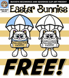 Easter Bunny FREE! {Squishies Clipart}