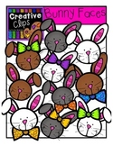 Easter Bunny Faces {Creative Clips Digital Clipart}