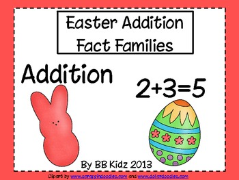 Easter/ Bunny Fact Family Addition Work Station