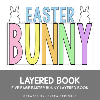 Easter Bunny Layered Book