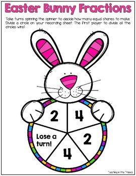 Easter Bunny Fractions Game