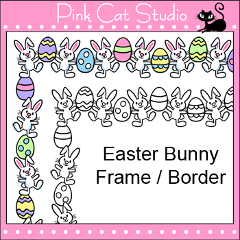 Borders - Easter Bunny Frame / Border Clip Art - Personal ...