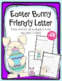 Easter Bunny Friendly Letter