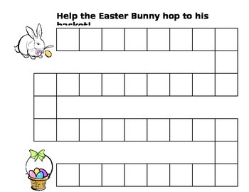 Help the Easter Bunny Hop to His Basket Game