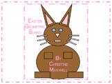 Easter Bunny Geometric 2D Shape Rabbit
