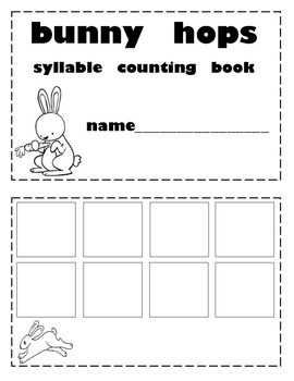 Easter Bunny Hops Syllable Books
